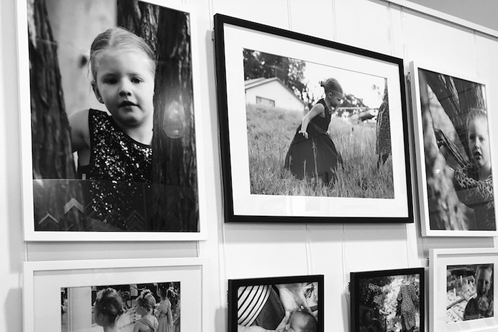 Children's photo wall